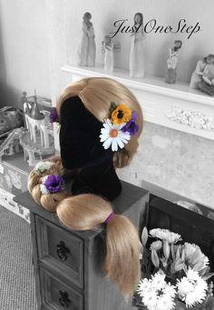 RAPUNZEL WIG Tangled Long Blonde Princess Wig by JustOneStep