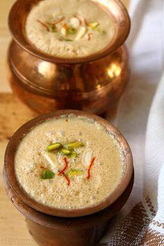 Veg Recipes of Indiamasala lassi recipe: sweet palm jaggery masala lassi, sweet lassi