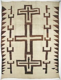 Natural Transitional textile with crosses c. 1890