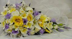 Latex White Yellow Frangipanies Lilac Yellow Cream Rose Wedding Bouquet Teardrop | eBay