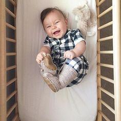 Plaid baby romper @alexandaddie Fin & Vince