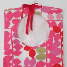 Pink Abstract Clothes Pin Bag Peg Bag by AwfyBrawJewellery on Etsy