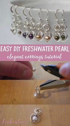 Make your own elegant freshwater pearl earrings with this easy DIY tutorial. They make a perfect gift idea for someone special in your life! via @Linkouture