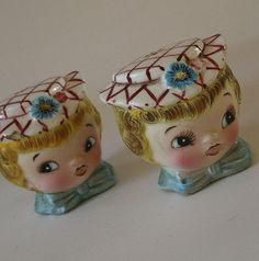Adorable Miss Dainty Salt and Pepper by valentinasvintage on Etsy, $6.00