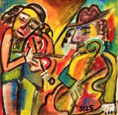 Jewish Music Klezmer Band Print Sandra Silberzweig Art Tradition
