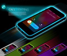 TPU-Incoming-Call-LED-Blink-Transparent-Back-Case-For-iPhone-6-4-7-Plus-5-5S-G
