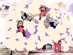 Usopp, Sanji, Luffy, Zoro e Chopper - One Piece