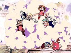 Usopp, Sanji, Luffy, Zoro e Chopper - One Piece