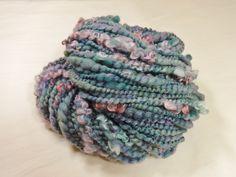 Waterlilies Handspun Yarn Bulky Coil Spun Art Yarn by Autumnrose