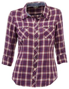 Natural Reflections Twill Plaid Shirt for Ladies | Bass Pro Shops: The Best Hunting, Fishing, Camping & Outdoor Gear