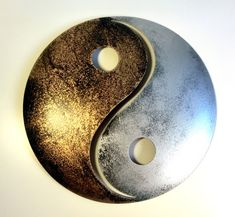 Cool Yin und Yang gold silber Pulverbeschichtetes Metall Wanddekoration f r innen und au en