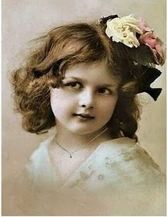 vintage image of little girl