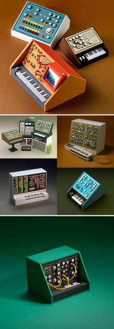 Miniature Retro Papercraft Synthesizers by Dan McPharlin E Drum, Diy And Crafts, Paper Crafts, Tiny World, Creative Skills, Mini Things, Paper Models, Paper Toys, Stop Motion