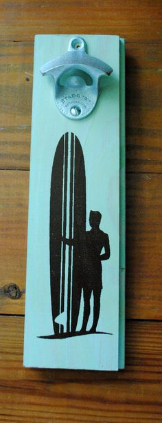 Surfer Bottle Opener by ReEcoShop on Etsy, $26.00