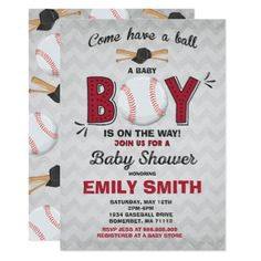 Baseball Baby Shower Invitation Sport Baby Shower - baby gifts child new born gift idea diy cyo special unique design