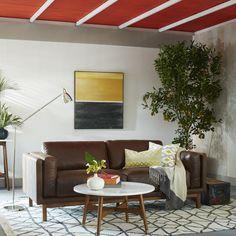 "Dekalb Leather Sofa from wayfair 85"" $3,000"