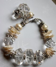 bracelet candlelight affair crystal quart keshi by molliecarey, $53.59