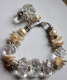 bracelet candlelight affair crystal quart keshi by molliecarey, $53.59