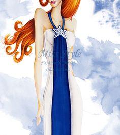 Cometa - Fashion Illustration, fashion illustrator by @MissStyleCreazioni