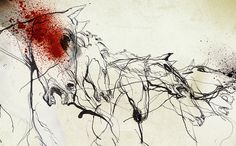 The Rape of Proserpina. Metamorphoses tales from Ovid. by Daniel Egneus, via Behance Horse Drawings, Animal Drawings, Abstract Horse Painting, Arabic Art, Equine Art, Wire Art, Types Of Art, Art Inspo, Illustrators