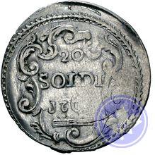 20 soldi (ttb-sup)   Corse 176-6 Argent 3,48 g Année: 1766 État de conservation: 2.3) TTB-SUP