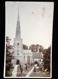St Mary's Church, Newent, Gloucestershire, England. c1906. Some of my ancestors were from Newent - if you're researching the surnames Leighton or Layton, do get in touch! esjones <at> btopenworld.com