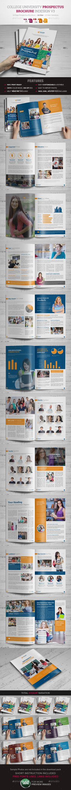 College University Prospectus Brochure V  Ai Illustrator