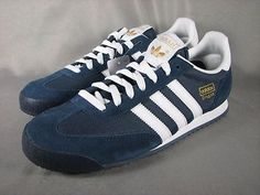 NEW Adidas Dragon Mens Retro Trainers Shoes G50919 Navy Blue White Multiple Size