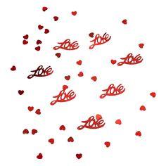 Herz & Love Konfetti Herzen Tischdeko Liebe Hochzeitsdeko - rot in Dekoration  • Konfetti