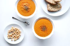 Kichererbsen Kokossuppe Fast Healthy Meals, Healthy Recipes, Healthy Food, Clean Eating, Lchf, Cantaloupe, Paleo, Pudding, Food Dinners