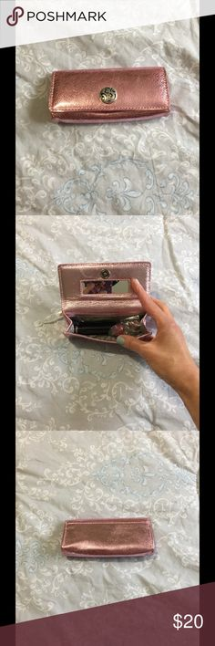 Brighton Pink Metallic Lipstick Case May be retired! Soft-sided, holds other small items too (not included).  Perfect condition.  Smoke-free home. Brighton Accessories