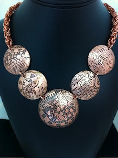 byzantine + etched copper by Deborah Read--lovely!