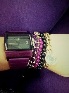 purple arm swag