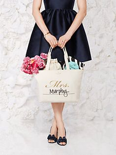 Customizable wedding tote from Kate Spade. Absolute MUST for when i eventually get married!!!