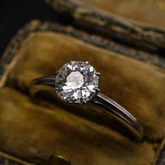 Art Deco Platinum CERTIFIED VS2-H Old Cut 0.89ct Diamond Engagement Ring by ButterLaneAntiques on Etsy https://www.etsy.com/listing/509023067/art-deco-platinum-certified-vs2-h-old