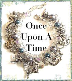 Once Upon A Time Jewelry Charm Bracelet , Story Book TV show bracelet, gift, jewelry via Etsy