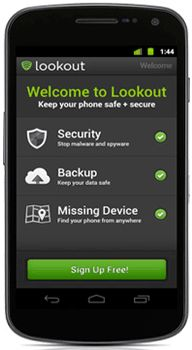 Lookout Mobile Security - Free virus protection for your iPhone, iPad, Kindle or Android device