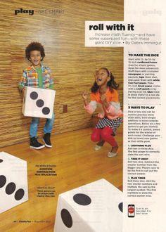 DIY dice from cardboard boxes // Family Fun