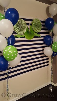 Gator photo backdrop - photo booth  It's Raining Alligators: A Baby Boy Sprinkle Celebration | Grow Gators  See more ideas at http://www.growgators.com/2016/05/its-raining-alligators-a-baby-boy-sprinkle-celebration/  #gatorbaby #babygator