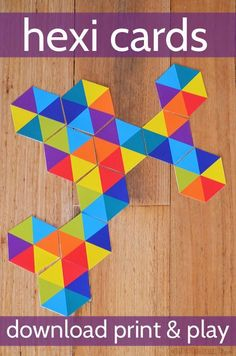 Hexi Cards - download these free printable hexagons which can be used in lots of different ways