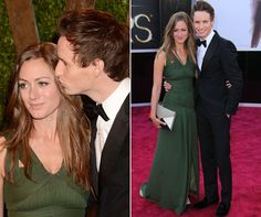 Eddie Redmayne and his girlfriend Hannah Bagshawe at the 2013  Oscars