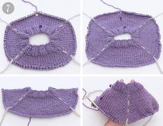 Comment tricoter un pull de haut en bas - Cours DROPS / cours de tricot - Wie man einen Pullover von oben nach unten (top down) strickt – DROPS Lektionen / Strickkurs Comment tricoter un pull de haut en bas – Cours DROPS / cours de tricot Sweater Knitting Patterns, Knitting Stitches, Knit Patterns, Hand Knitting, Knitting Designs, Mens Knit Sweater, Drops Design, Baby Sweaters, Knitted Hats