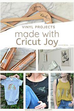 #ad Three Little Things To Make with the Cricut Joy {Using Vinyl} #cricutcreated #cricutjoy