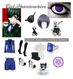 """Ciel Phantomhive Cosplay"" by be-my-senpai ❤ liked on Polyvore featuring art"
