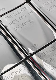 Mirror covers featuring foiled and blind embossed typography for BMW by Barber & Osgerby _ #giftidea #giveaways