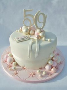 I Really Love This Cake Would To Stick With Concept For Moms 50th Birthday Women60th CakesElegant