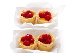 Sandra's simple Mini Cherry-Lemon Meringue Pies are the perfect kid-sized dessert. The kids will love pressing the crust into the pans and spooning in the filling.
