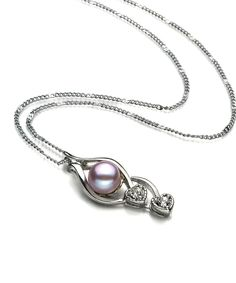 Look at this Lavender Pearl & Cubic Zirconia Eudora Pendant Necklace on #zulily today!