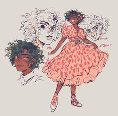 Cute Art Styles, Cartoon Art Styles, Black Girl Art, Art Girl, Alex Fierro, Arte Fashion, Ac New Leaf, Arte Sketchbook, Wow Art