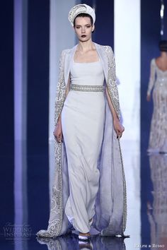 ralph and russo haute couture fall 2014 2015 look 12 dress floor length jacket